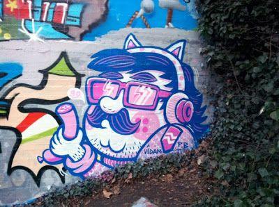 Peach Beach, Berlin #streetart #character