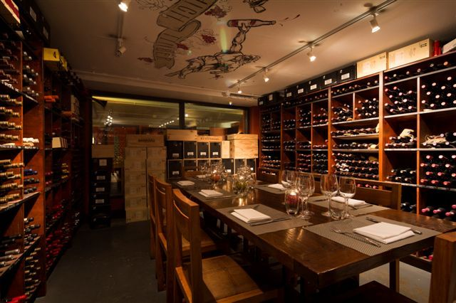 Private wine tasting and dining area below High Timber Restaurant