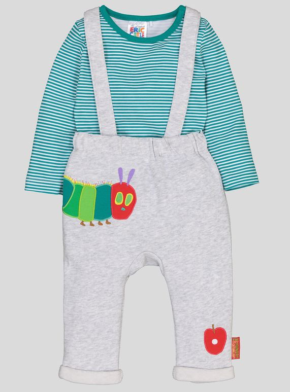 5f22f26c4 The Very Hungry Caterpillar Grey 2 Piece Dungaree Set (0-24 months ...