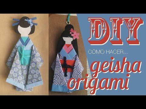 Kimono de papel - origami - YouTube                                                                                                                                                                                 Más