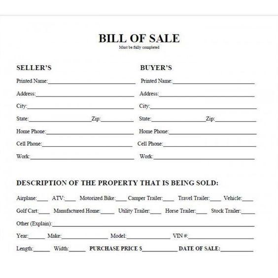 printable car bill of sale pdf bill of sale west texas atv random. Black Bedroom Furniture Sets. Home Design Ideas