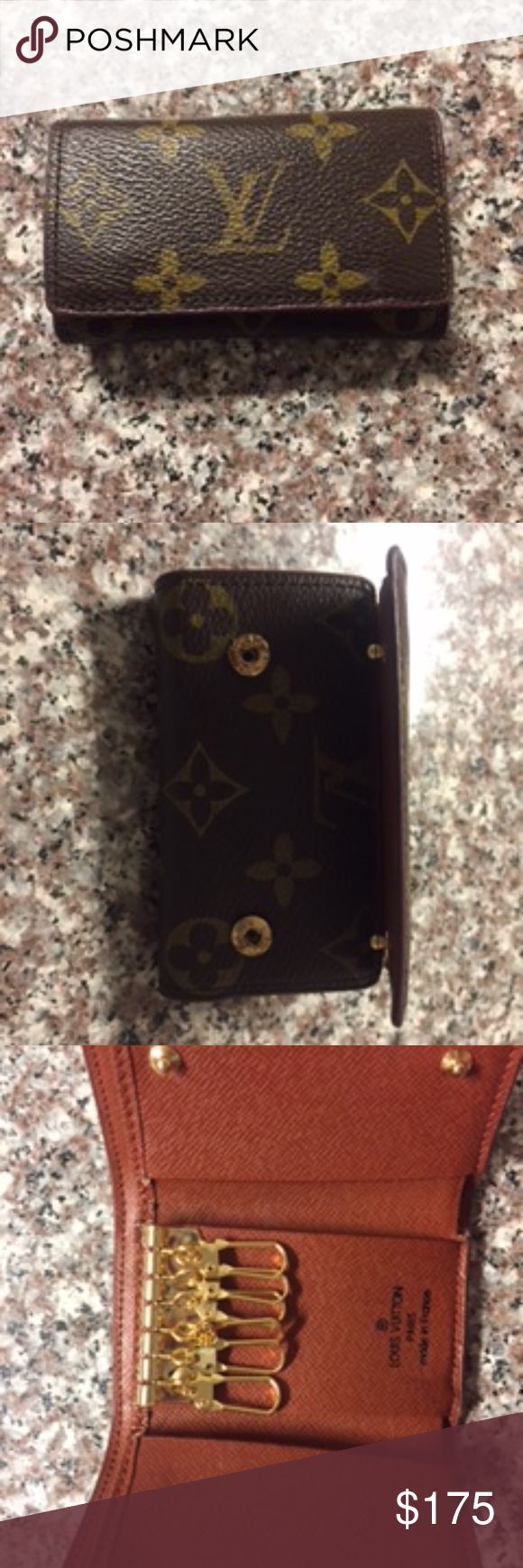 Louis Vuitton 6 Key Wallet excellent condition vintage LV key holder with wallet--price negotiable Louis Vuitton Bags Wallets