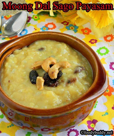 Moong dal sago kheer / Pasiparuppu javarisi Payasam, an Indian Dessert #indian #dessert #moongdal #payasam #kheer