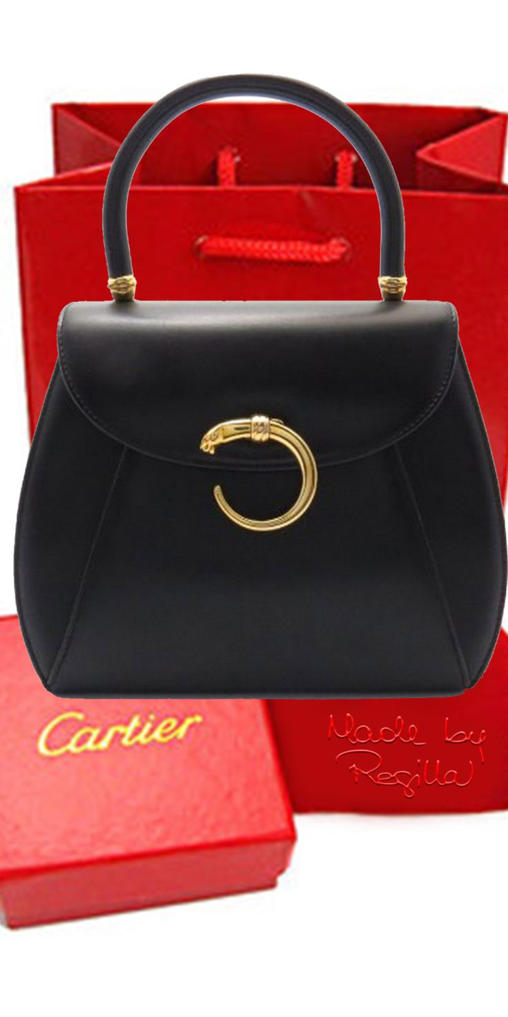 Cartier Handbag via Regilla ⚜ Una Fiorentina in California #Cute! Vintage, Dressy, or Dress up w/jeans..