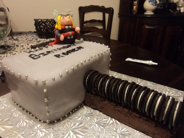 Thor Birthday Cake For Ronen Party Ideas Pinterest