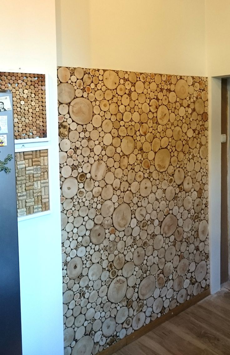 Wooden slice wall