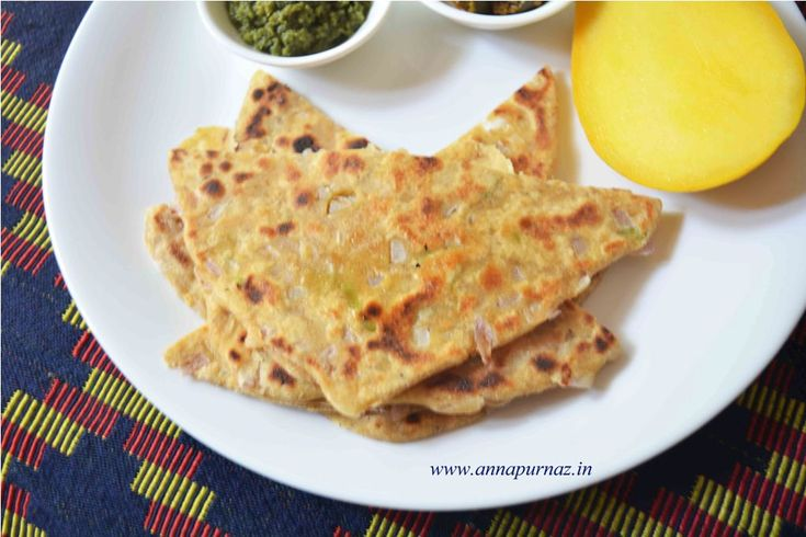 Onion Paratha /Pyaaz Ka Missa Paratha- Healthy summer breakfast