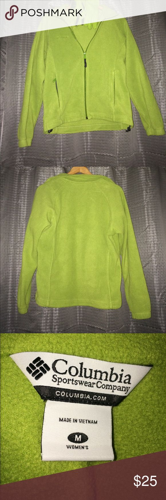 Columbia jacket and green gloves Columbia green zippered jacket and green thinsulate gloves. Please ask questions. Columbia Jackets & Coats
