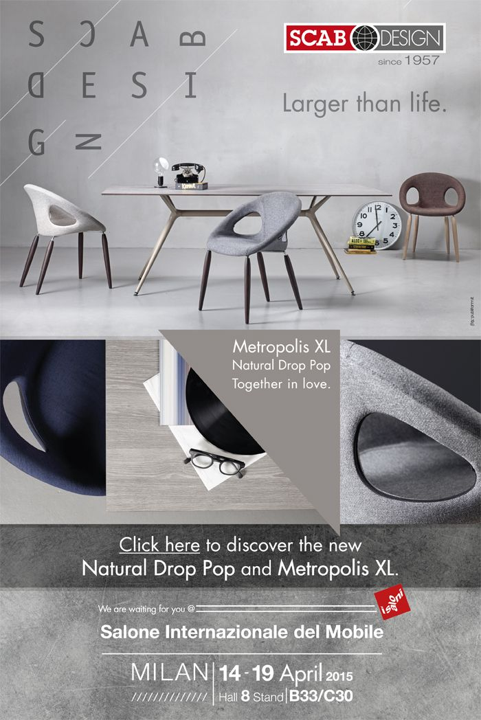 Natural Drop Pop and Metropolis XL by SCAB Design for Archiportale and iSaloni 2015 Milano