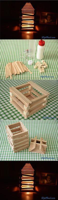 Create a Cute Lamp Using Popsicle Sticks