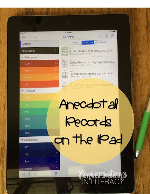 Great information for using the Notability app for guided reading anecdotal…