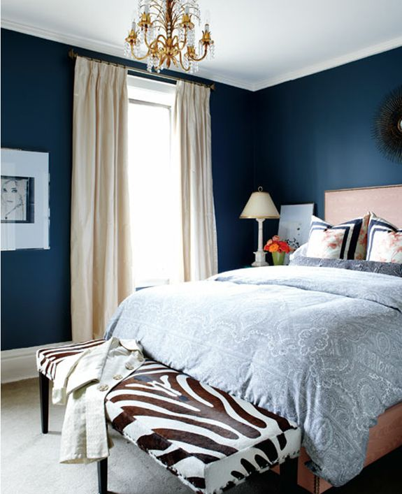 Vintage Bedroom Curtains Dark Blue Bedroom Decorating Ideas Tropical Bedroom Color Schemes Bedroom Armchairs: Dormitorios En Azul Oscuro - DecoIdeal
