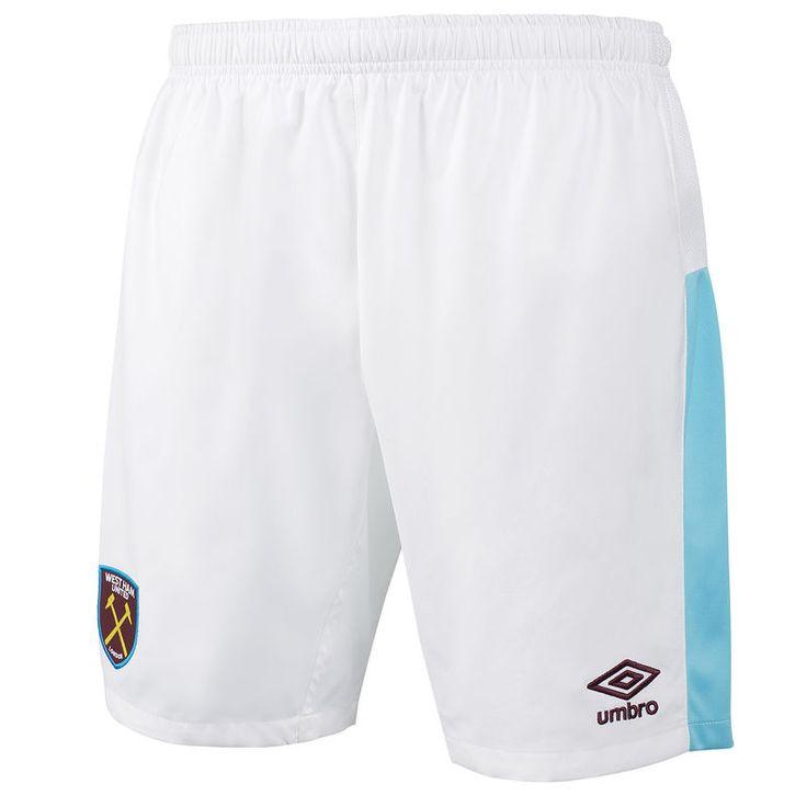 West Ham United Umbro 2016/17 Home Shorts - White