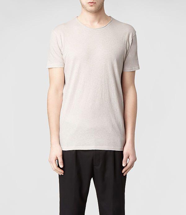 Mens Figure Crew T-Shirt (Cement) | ALLSAINTS.com
