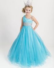 Girls Beautiful Unique Pageant Gown UF3061F | Pageant Gown Girls