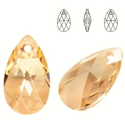 6106 Pear-shaped 28mm Golden Shadow  Dimensions: height - 28,0mm Colour: Crystal Golden Shadow 1 package = 1 piece