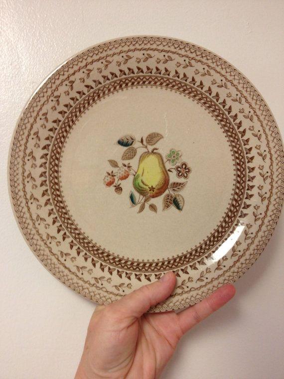 Johnson Bros. Fruit Sampler plate, pear