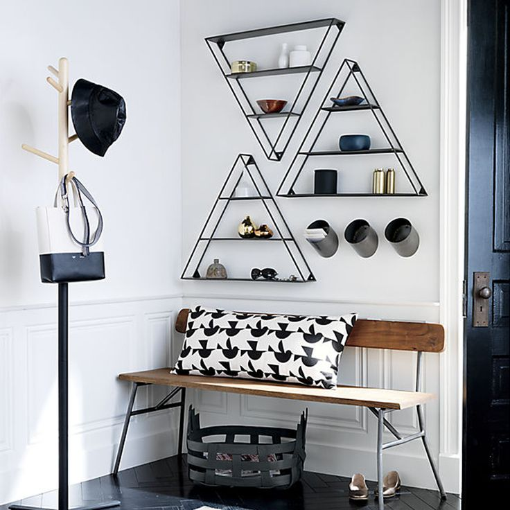Collalily американский стиль Nordic стены хранения Держатели Стоек Металл Геометрическая Треугольник современный дизайн вешалка коридор железнодорожных bookrack
