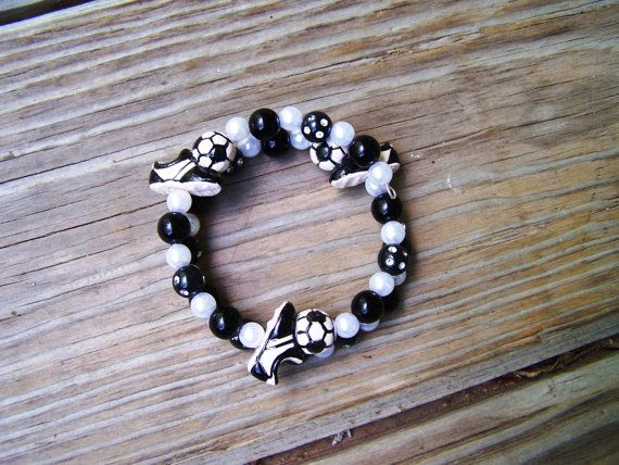 Soccer Team Awards Birthday Girl Pearl Party Game Prize Favor Special Frou Frou Bracelet on Etsy, $7.00