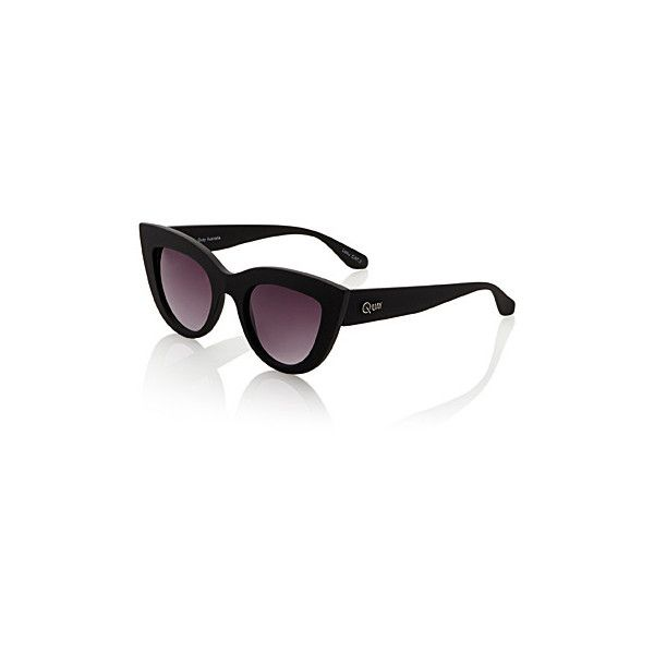 Quay Cat eye sunglasses ($63) ❤ liked on Polyvore featuring accessories, eyewear, sunglasses, uv protection glasses, quay sunglasses, quay eyewear, uv protection sunglasses and cat eye glasses