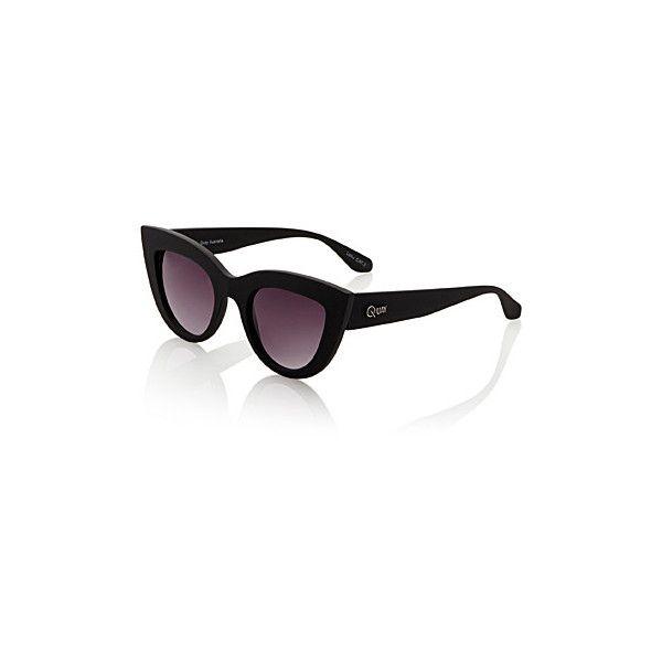 Quay Cat eye sunglasses ($63) ❤ liked on Polyvore featuring accessories, eyewear, sunglasses, uv protection glasses, quay sunglasses, quay eyewear, uv protection sunglasses and cat eye glasses