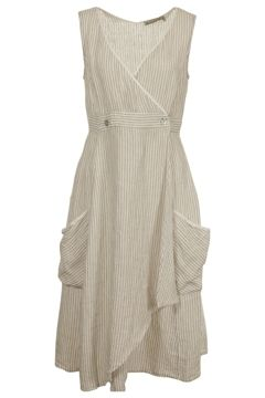 Hammock & Vine Stripe Linen Wrap Dress - I'd wear something like this over regular clothes for everyday.