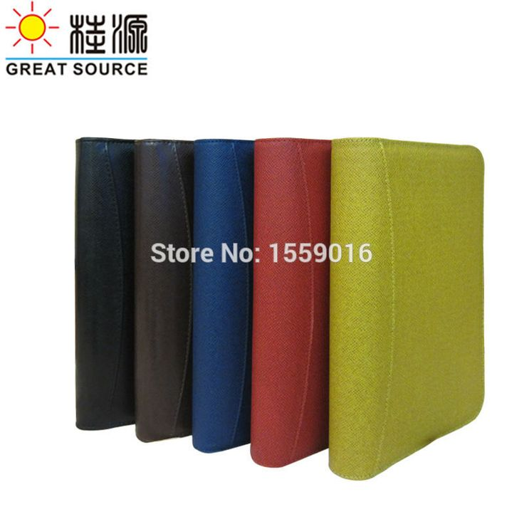 Great Source Popular PU 6 rings binder folder portfolio notebook folder with calculator for a5 notebook planner Free shipping