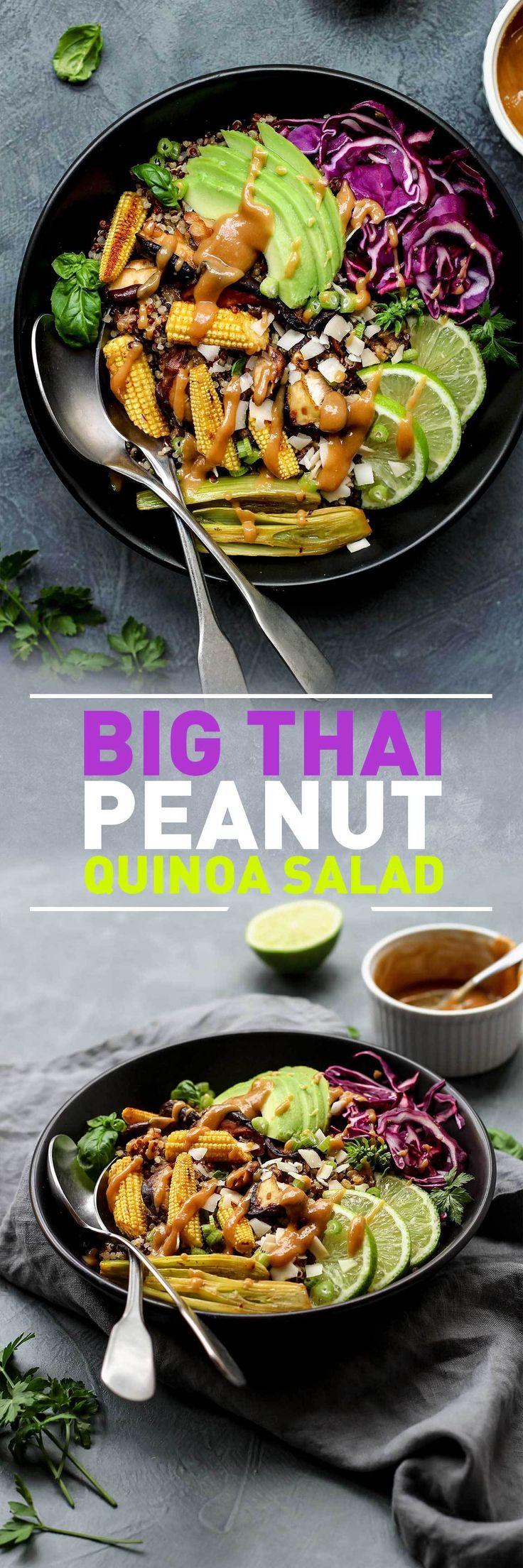 Big Thai Quinoa Salad (Vegan)
