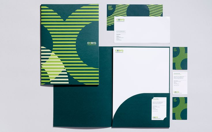 Oxera stationery items.