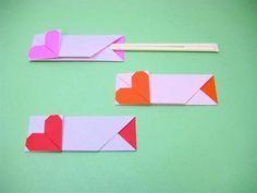 heart origami chopstick holder ハートの箸袋の作り方|折り紙|紙小物・ラッピング | アトリエ