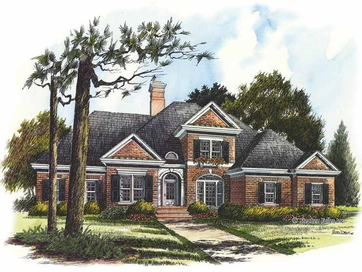 Best 20 american houses ideas on pinterest american for Traditional brick homes