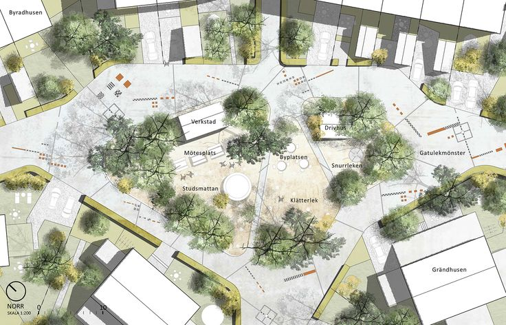 URBIO – rödgrönblå stadsbyggnadskonst – By-gläntan – sörmländskt, naturanpassat