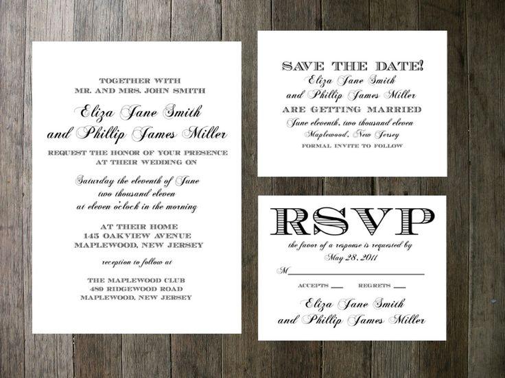 Semi formal invitation wording 28 images new wedding printable wedding invitation simple formal script 55 00 via etsy brown hudec wedding stopboris Gallery