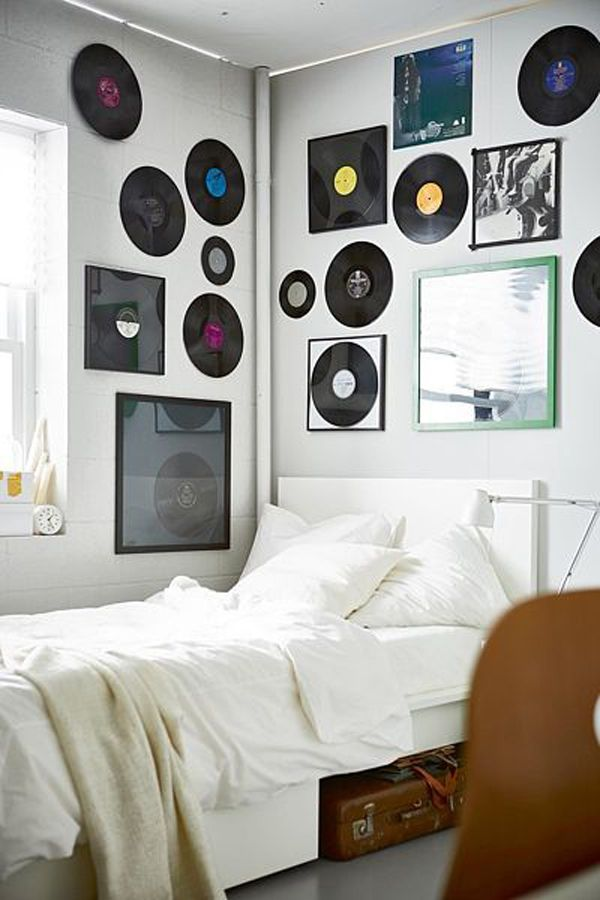 10 Coolest Wall Art Decor For Music Lovers Room Ideas Bedroom Record Room Decor Record Room