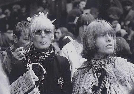 Brian Jones and Nico - Monterey Pop Festival, 1967.   Monterey   Pinterest   Monterey Pop Festival