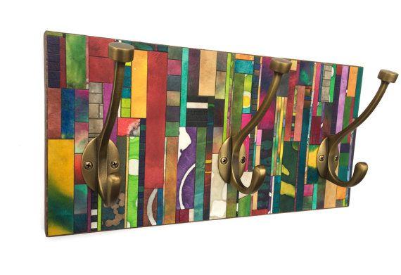 Entryway Coat Rack  Apartment Storage  Handmade Paper  by calyrew