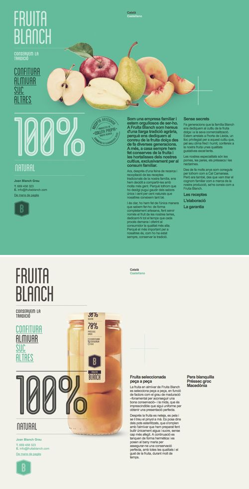 Beautiful site for Fruita Blanch by Atipus