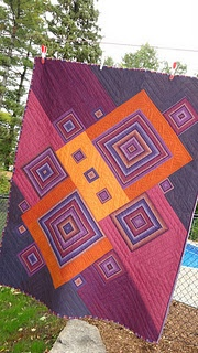 uses striped fabric to make the blocks simple