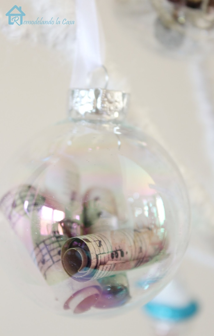 Clear glass craft ornaments - Clear Glass Ornaments For Crafts Sheet Music Ornaments