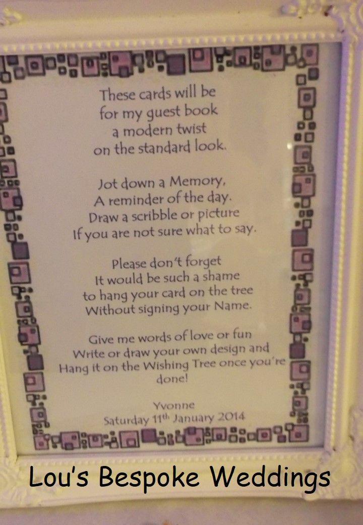 Framed Personalised Wish Tree Poem Wedding Pinterest