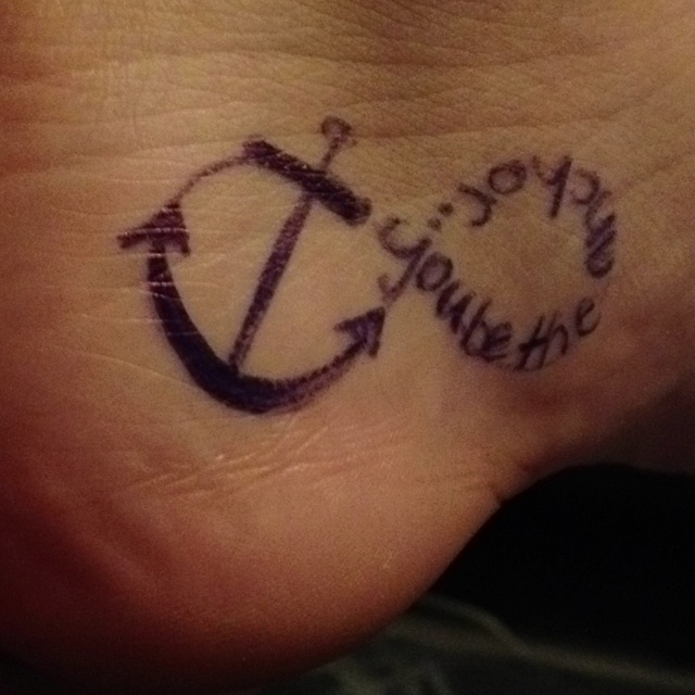 You be the anchor that keeps my feet on the ground
