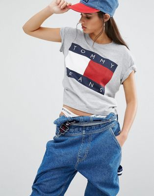 Tommy Jeans | Укороченная футболка с логотипом Tommy Jeans