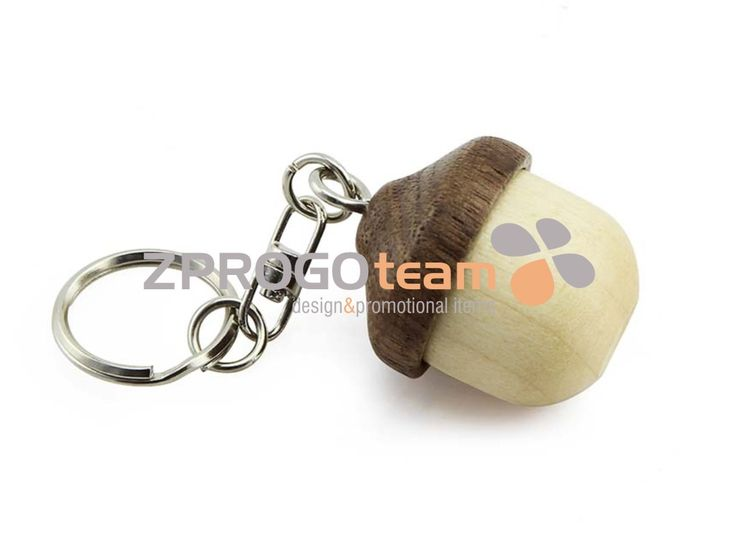 NEW: Promotional wooden USB flash drive design acorn.