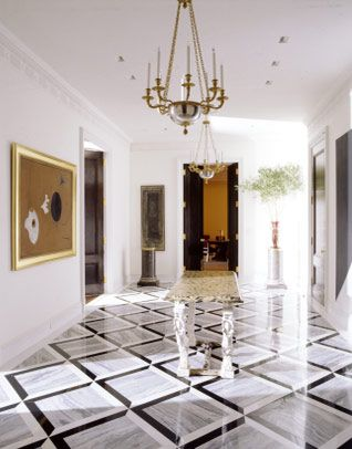Great Floor In This Hallway Designed By Stephen Sills Staircases Hallways And Entryways