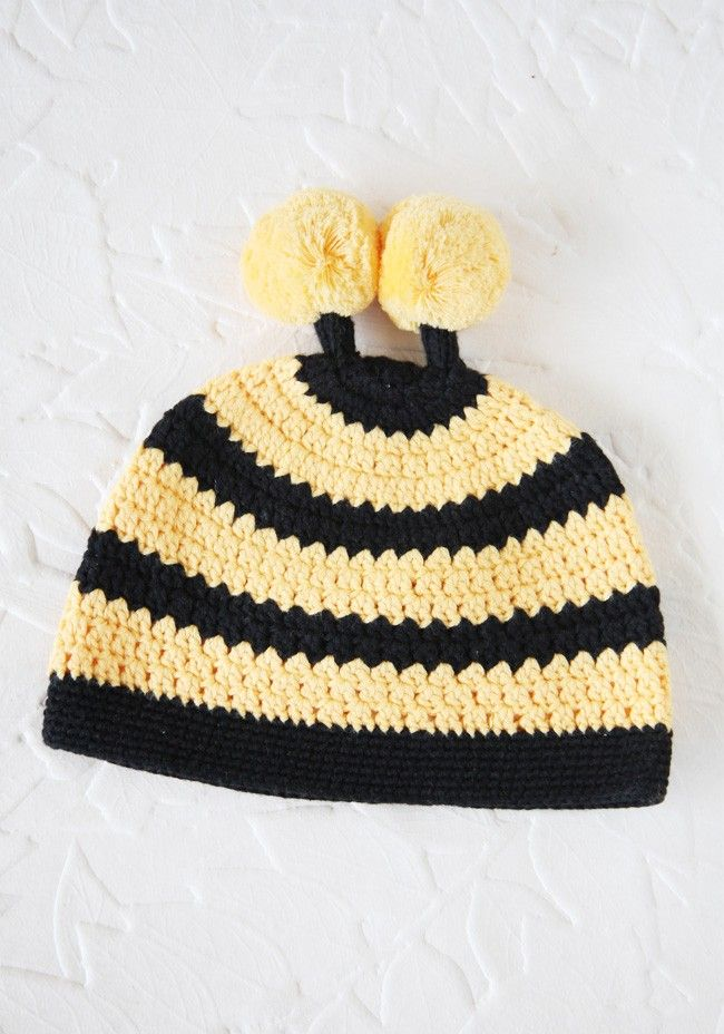 Little Bee Crochet Hat 22.99 at shopruche.com. Keep your child toasty with