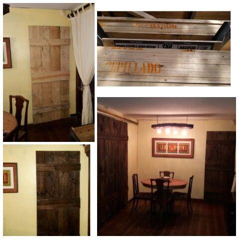 Wood proyect 5 Puerta de madera #diseñorustico