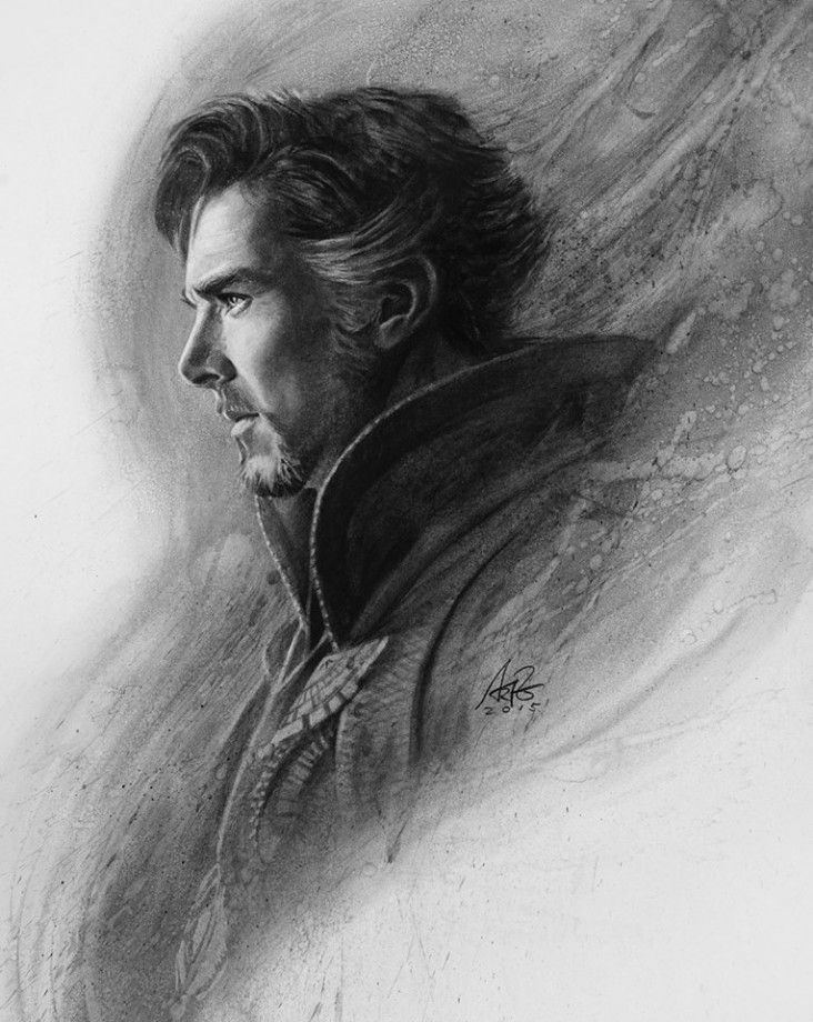 Dessin Doctor Strange : La magie du fusain opère avec Artgerm