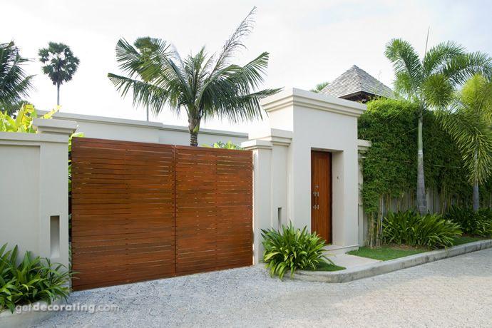 Cercos para patio, ideas para cercos, muros, diseño de paredes exteriores, diseño de portones - getdecorating.com