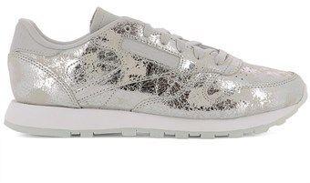 Reebok Women's Silver Leather Sneakers.