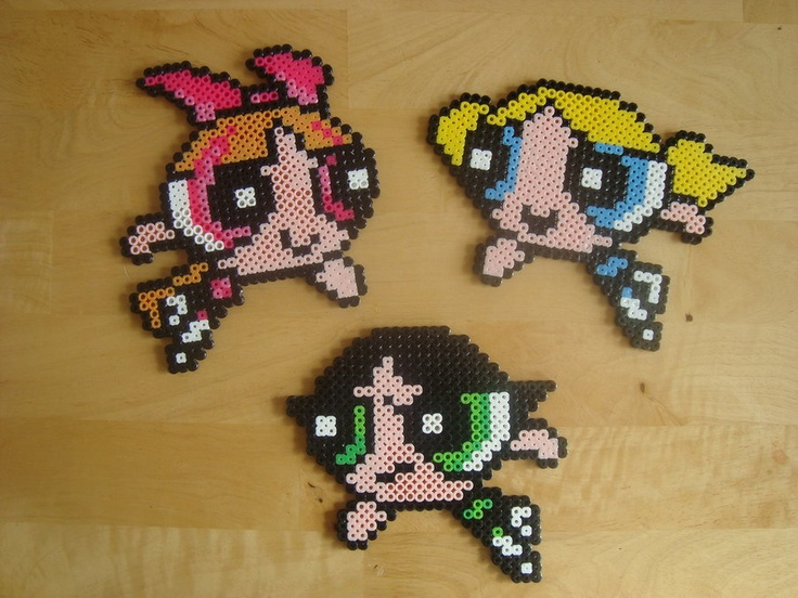 powerpuff girls perler beads